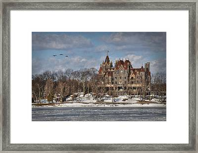 Winter At The Castle Framed Print