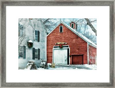 Winter At The Farm Framed Print