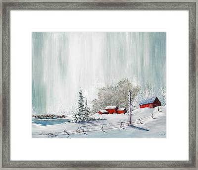 Winter At The Lake Framed Print