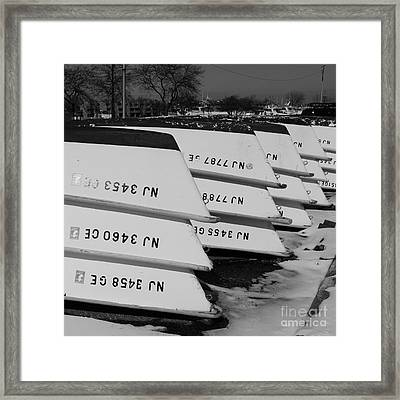 Winter At The Marina Framed Print by Paul Ward