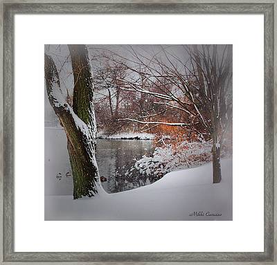 Winter At The Pond Framed Print by Mikki Cucuzzo