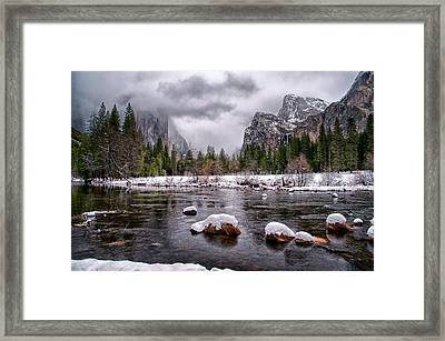Winter At Valley View Framed Print