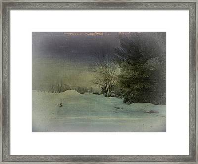 Winter Atmosphere  Framed Print by Dianne  Lacourciere