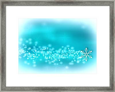 Winter Background Framed Print by Modern Art Prints