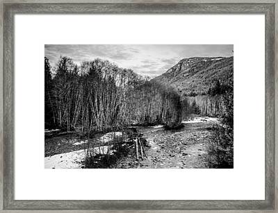 Winter Backroads Englishman River Framed Print