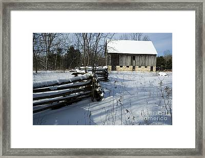 Winter Barn I Framed Print