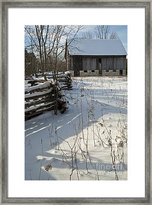 Winter Barn II Framed Print