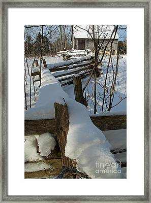 Winter Barn IIi Framed Print