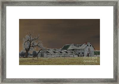 Winter Barns Framed Print by Alys Caviness-Gober