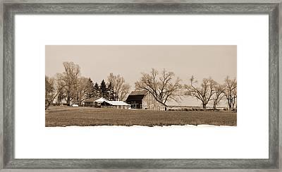 Framed Print featuring the digital art Winter Barren by Kirt Tisdale