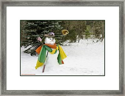 Winter Baseball Ball Gown  Framed Print by LeeAnn McLaneGoetz McLaneGoetzStudioLLCcom