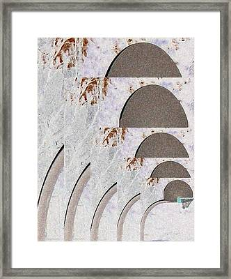 Winter Basketball Framed Print by Gretchen Wrede