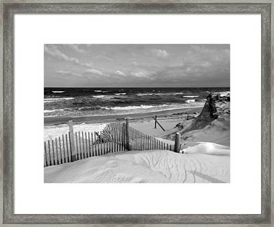 Winter Beach Framed Print by Dianne Cowen