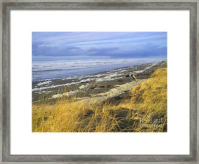 Winter Beach Framed Print by Jeanette French