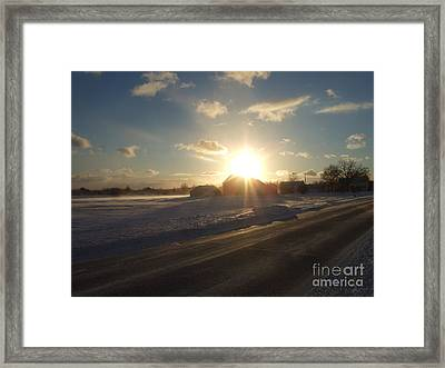 Winter Beauty  Framed Print by Deborah DeLaBarre