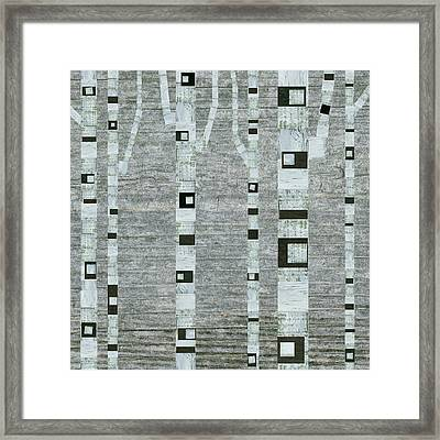 Winter Birches Framed Print by Michelle Calkins