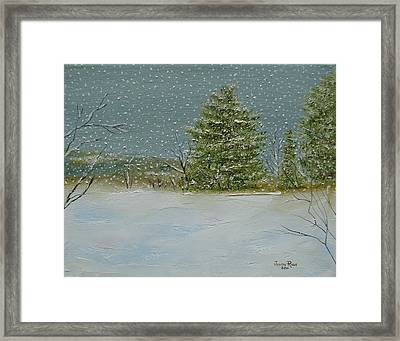 Winter Blanket Framed Print