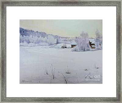 Winter Blanket Framed Print by Martin Howard