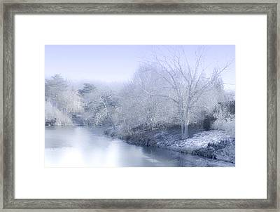 Winter Blue And White Framed Print by Julie Palencia