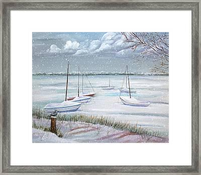 Winter Blue Framed Print by Dorothy Riley