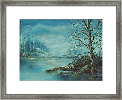 Winter Blue Framed Print