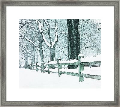 Winter Blues Framed Print by John Stephens