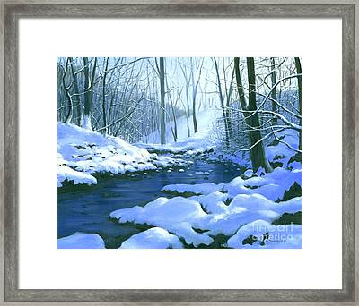 Framed Print featuring the painting Winter Blues - Sold by Michael Swanson