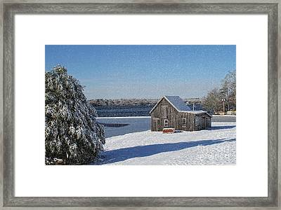 Framed Print featuring the photograph Winter Bog by Gina Cormier