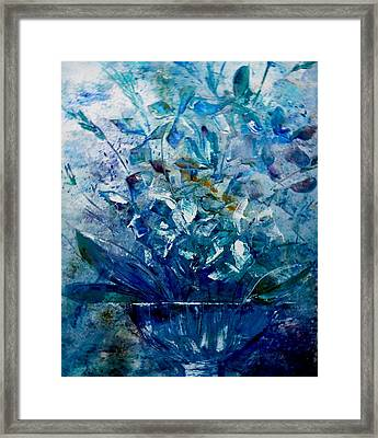 Framed Print featuring the painting Winter Bouquet by Lisa Kaiser
