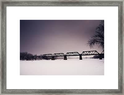 Winter Bridge Framed Print by Bryan Scott
