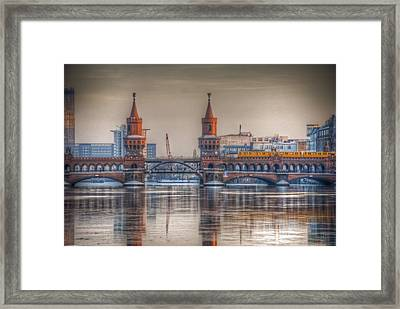Winter Bridge Framed Print by Nathan Wright