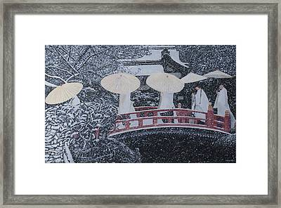Winter Bridge Of Japan Framed Print