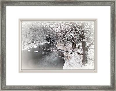 Winter Brook Framed Print by Joy Nichols