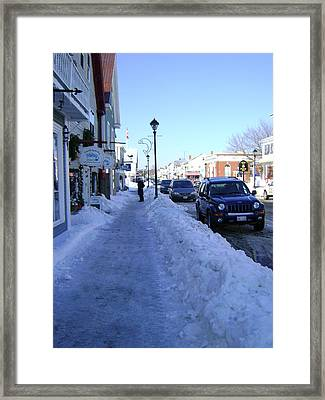 Winter By The Sea Framed Print by Sheryl Crighton
