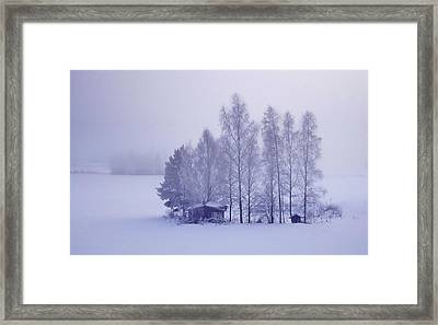 Winter Cabin In The Woods Framed Print by Movie Poster Prints