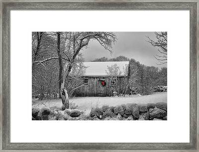 Winter Cabin Framed Print by Tricia Marchlik