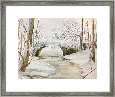 Winter Calling Framed Print by Karen  Condron
