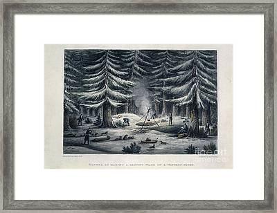 Winter Camp Framed Print by British Library