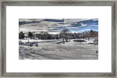 Winter Campus Framed Print