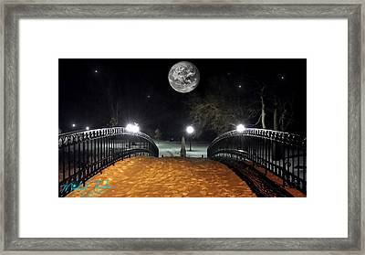 Winter Canal Bridge Framed Print