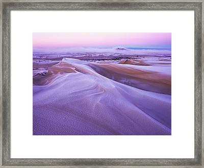 Winter Carves And Decorates The Umpqua Framed Print by Robert L. Potts