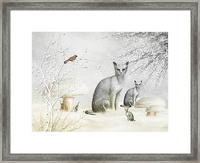Winter Cats Framed Print