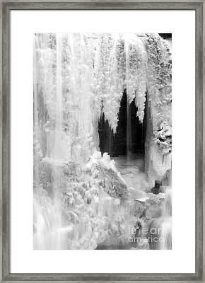 Winter Cave Framed Print by Jeannette Hunt