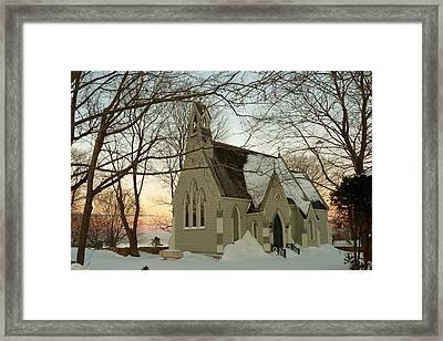 Winter Chapel Framed Print