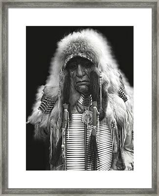 Winter Chief B W Framed Print