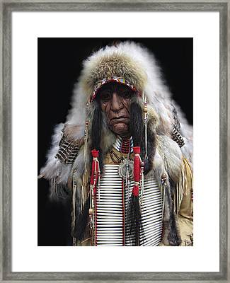 Winter Chief Framed Print