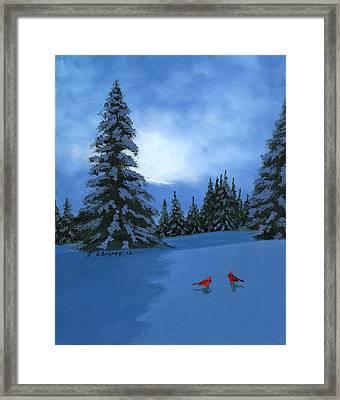 Winter Christmas Card 2012 Framed Print by Cecilia Brendel
