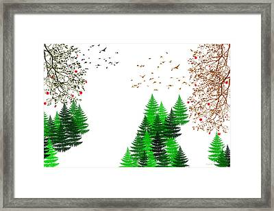 Winter Four Seasons Framed Print