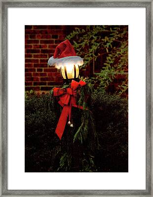 Winter - Christmas - It's Going To Be A Cold Night Framed Print by Mike Savad