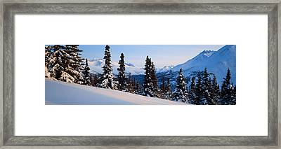 Winter Chugach Mountains Ak Framed Print by Panoramic Images